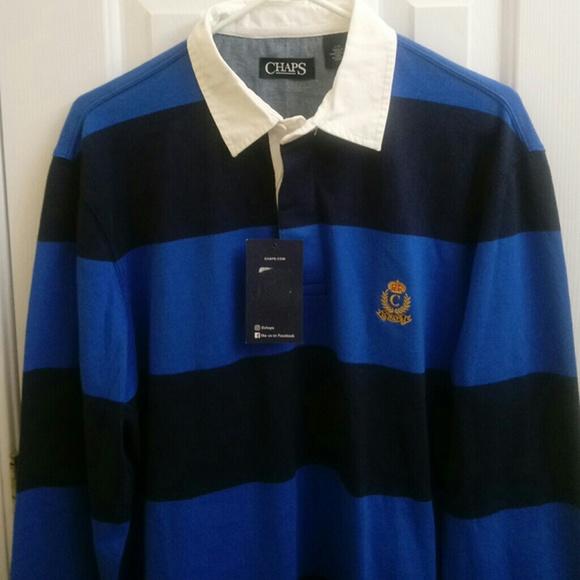 77d6cb4fa2e Chaps Shirts | Mens Size Large Rugby Shirt Mens Vintage S | Poshmark